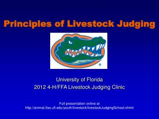 Principles of Livestock Judging