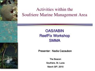 Activities within the Soufriere Marine Management Area