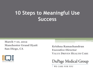 10 Steps to Meaningful Use Success