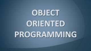 C and Object-Oriented Programming   Functions