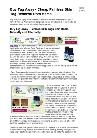 Buy Tag Away on the Internet