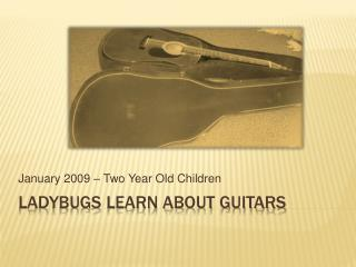 Ladybugs Learn About Guitars