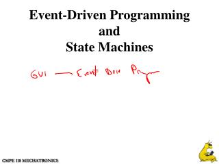Event-Driven Programming and State Machines