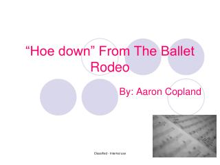 """Hoe down"" From The Ballet Rodeo"