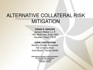 ALTERNATIVE COLLATERAL RISK MITIGATION