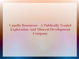 Capella Resources Ltd.