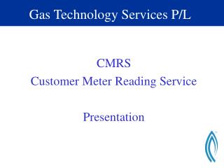 Gas Technology Services P