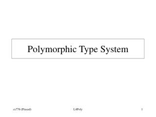 Polymorphic Type System