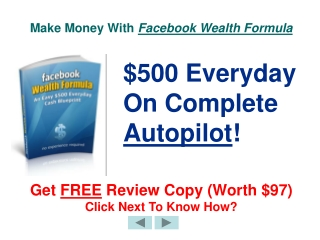 Awesome way to make money using Facebook wealth formula