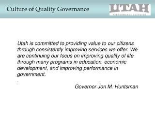 Culture of Quality Governance