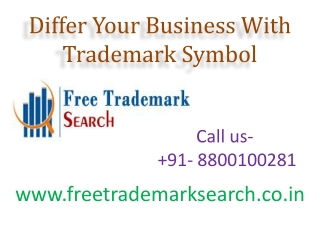 Differ Your Business With Trademark Symbol