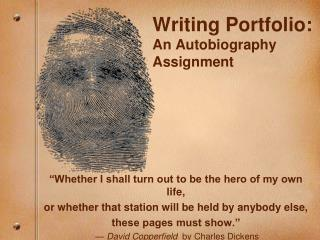 Writing Portfolio: An Autobiography Assignment