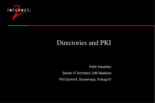 Directories and PKI