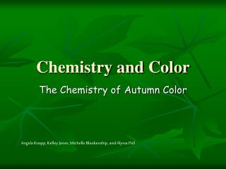 Chemistry and Color