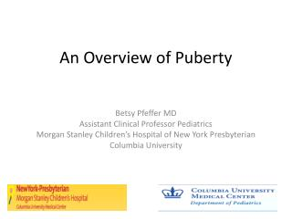 An Overview of Puberty