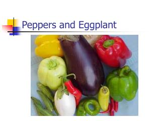 Peppers and Eggplant