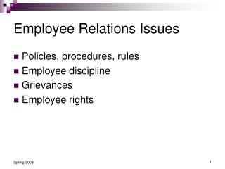 Employee Relations Issues