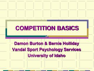 COMPETITION BASICS