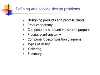 Defining and solving design problems