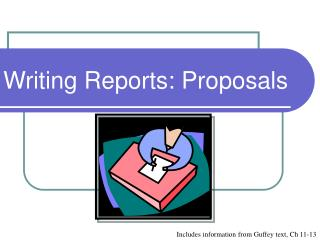 Writing Reports: Proposals