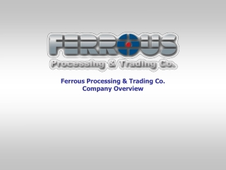 Ferrous Processing and Trading Scrap Metal Recycling