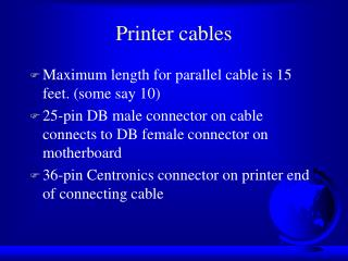 Printer cables