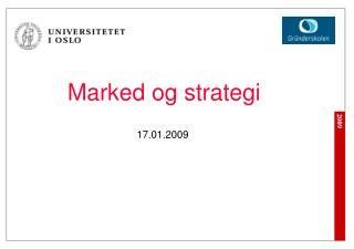Marked og strategi