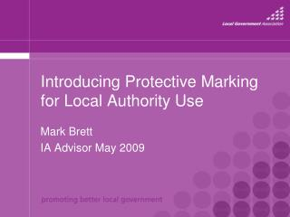 Introducing Protective Marking for Local Authority Use