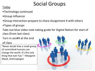 Social Groups