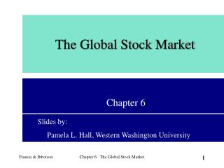 The Global Stock Market