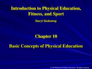 Basic Concepts of Physical Education