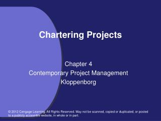 Chartering Projects