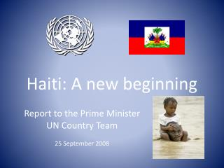 Haiti: A new beginning