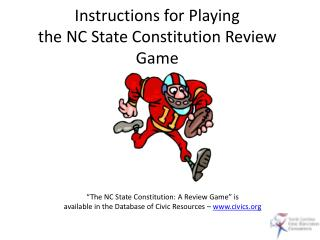 Instructions for Playing the NC State Constitution Review Game
