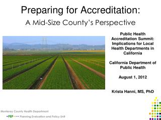 Preparing for Accreditation: