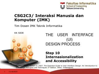 CSG2C3 / Interaksi Manusia dan Komputer (IMK)