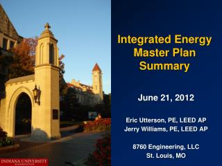 Integrated Energy Master Plan Summary