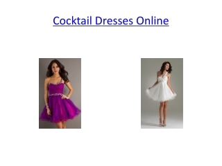 cocktail dresses