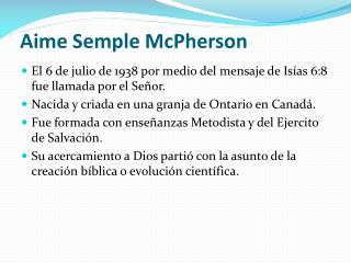 Aime  Semple McPherson
