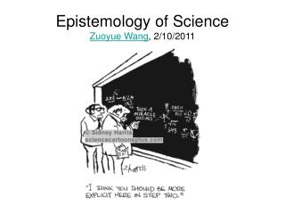 Epistemology of Science Zuoyue Wang, 2