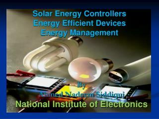 Solar Energy Controllers Energy Efficient Devices Energy Management