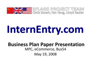 Business Plan Paper Presentation