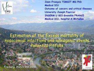Estimation of the  Excess mortality of nosocomial infections and  iatrogenic events  P otential P itfalls