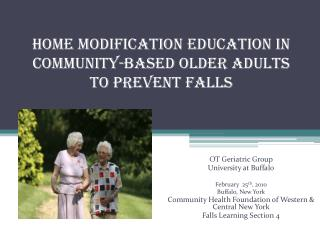 Home Modification Education IN Community-Based Older Adults  to Prevent Falls