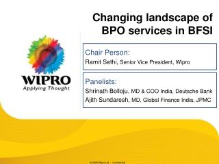 Changing landscape of BPO services in BFSI