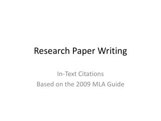 writing research papers based on modern language association Modern language association (mla) format and documentation this handout covers the basics of mla format and the documentation of sources students frequently use for more complete information, refer to the mla handbook for writers of research papers, 7th ed, available in the writing center and at the reserve desk at the chester fritz.