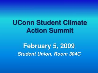 UConn Student Climate Action Summit