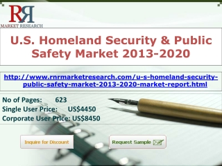 US Homeland Security & Public Safety Market 2013 to 2020