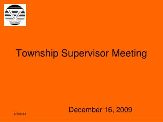 Township Supervisor Meeting