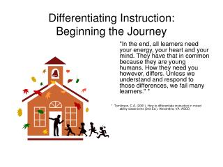 Differentiating Instruction:   Beginning the Journey